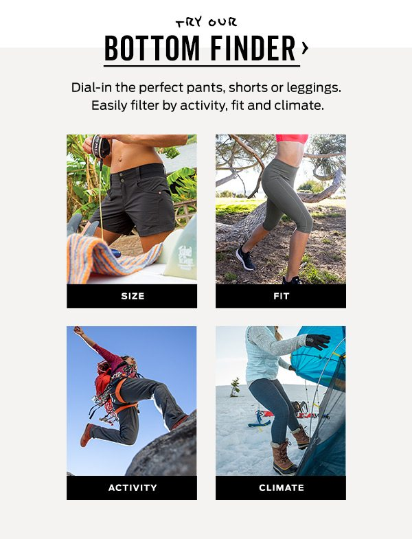 Try our Bottoms Finder >
