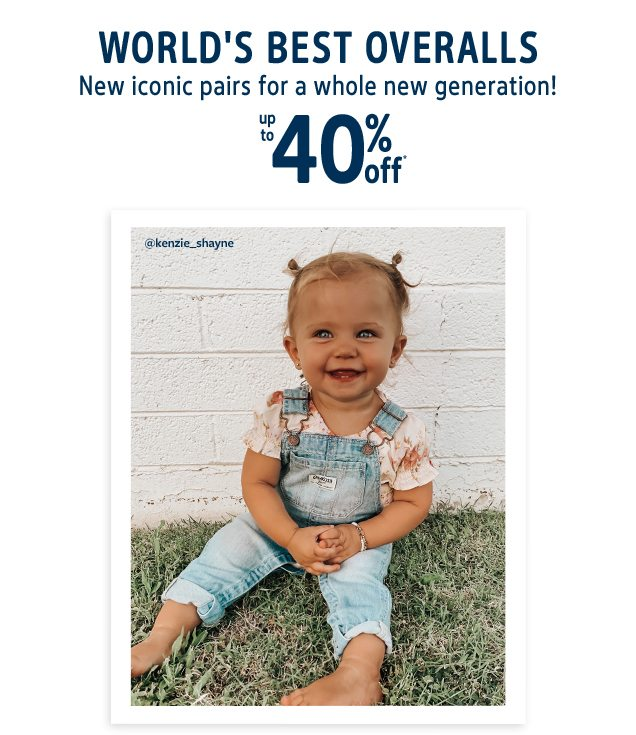 WORLD'S BEST OVERALLS | New iconic pairs for a whole new generation! | up to 40% off* | @kenzie_shayne