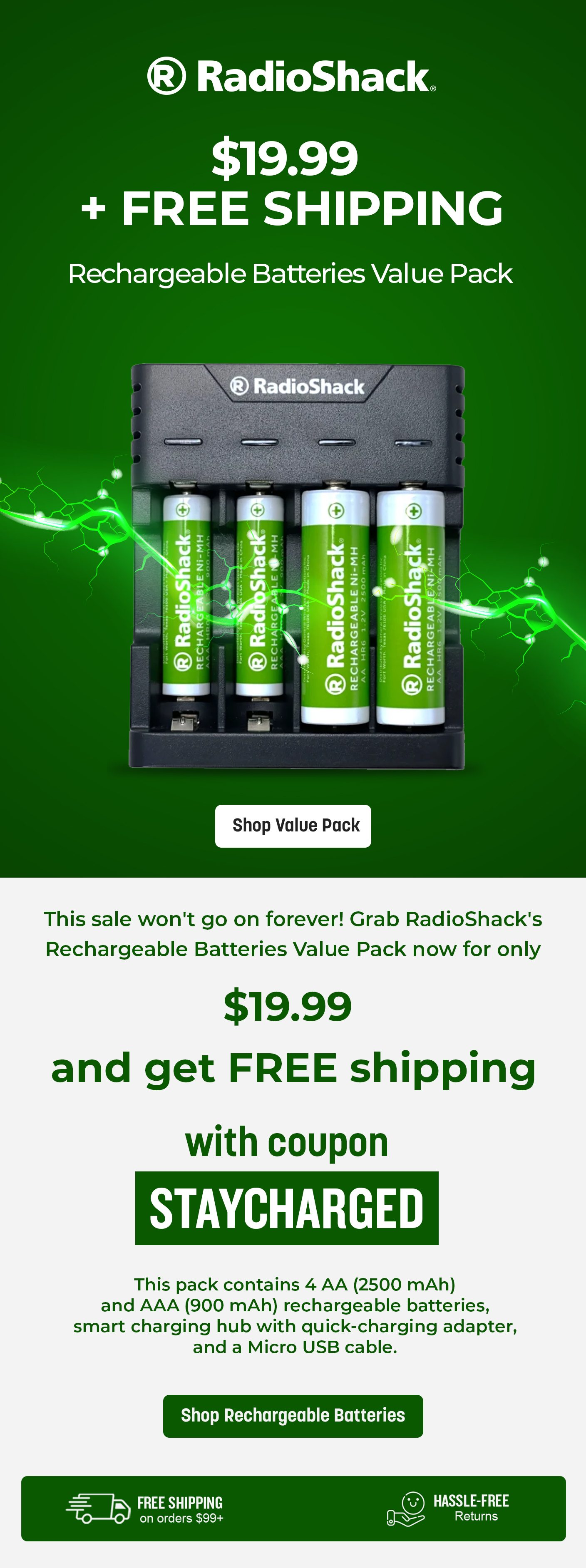 Rechargeable Batteries Value Pack