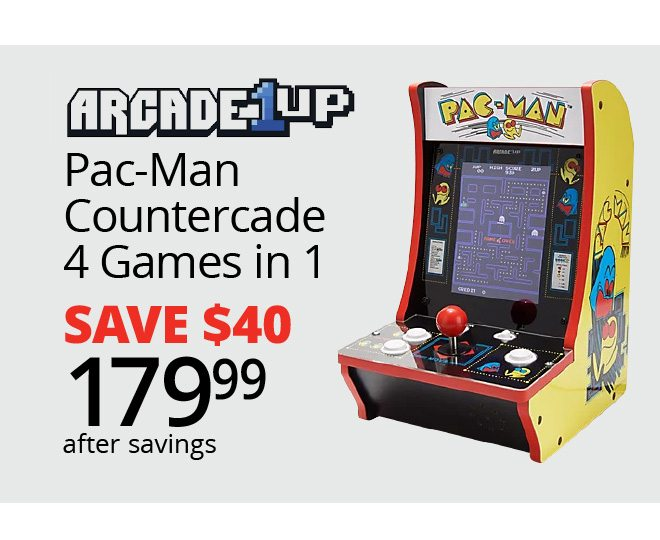 ARCADE 1UP - Pac-Man Countercade 4 Games in 1 SAVE $40 - $179.99 after savings