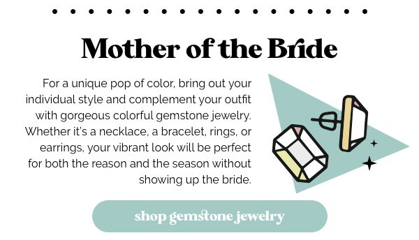Shop colorful jewelry options to wear to your next wedding