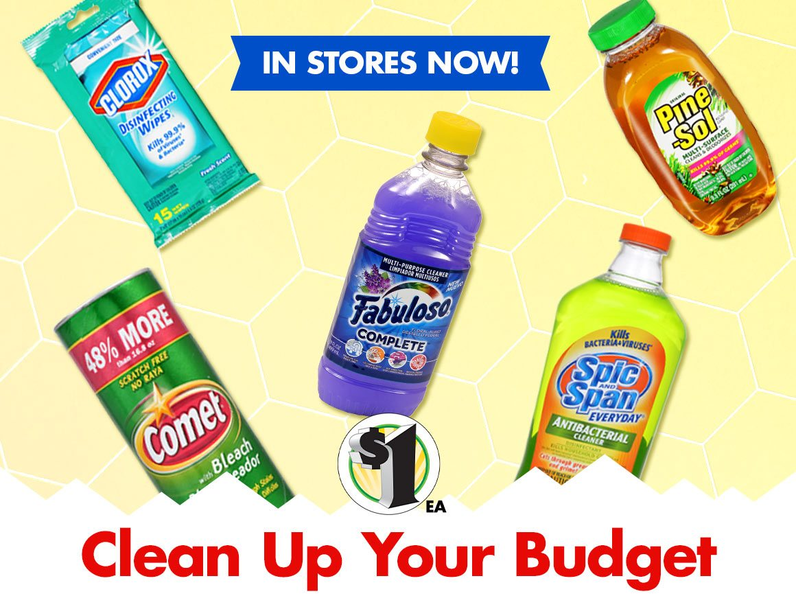 Shop $1 Cleaning Supplies!
