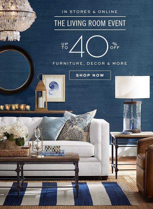 THE LIVING ROOM EVENT UP TO 40% OFF