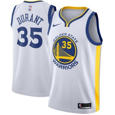 Kevin Durant Golden State Warriors Nike Swingman Jersey White - Association Edition