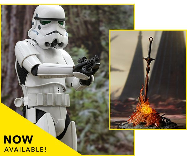 Now at Sideshow - Stormtrooper Sixth Scale Figure and Bonfire Light-up Statue (Gecco)