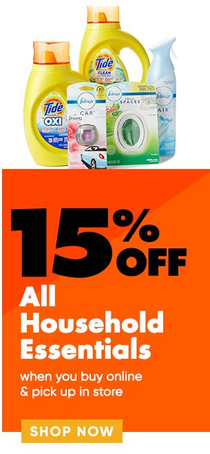 15% off Household Essentials