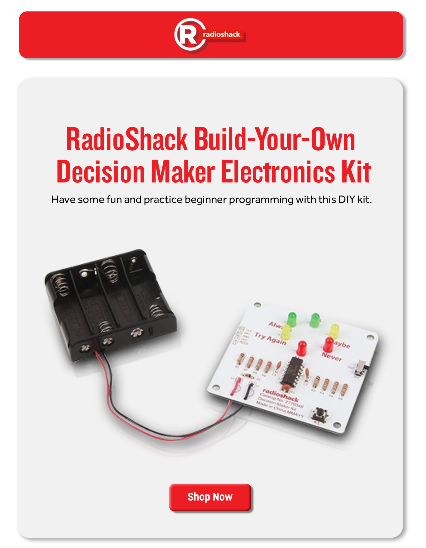 RadioShack Build-Your-Own Decision Maker Electronics Kit