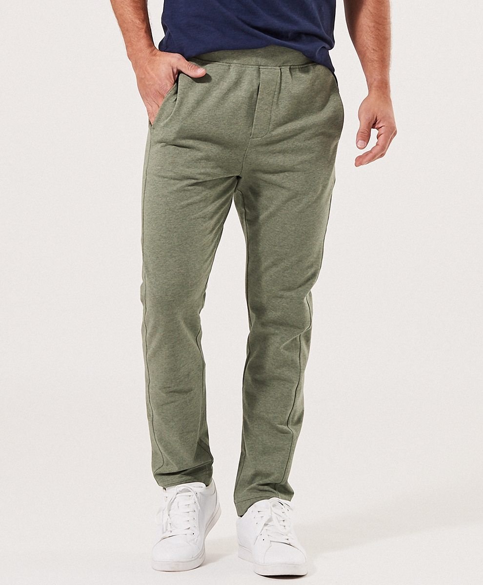 Men's Thyme Heather French Terry Straight Leg Pant