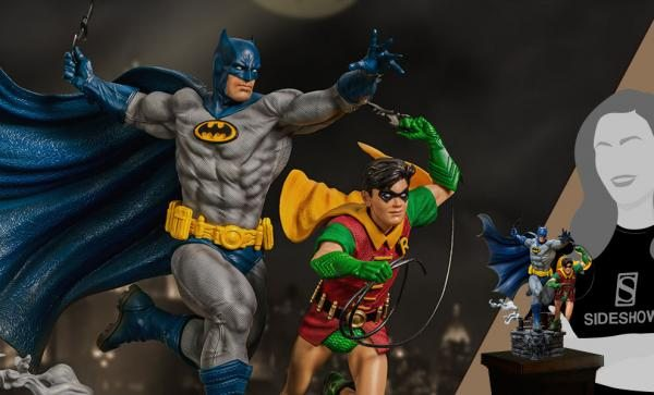 NOW AVAILABLE Batman & Robin Deluxe 1:10 Scale Statue by Iron Studios