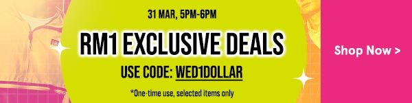 5PM-6PM Only: RM1 Exclusive Deals!