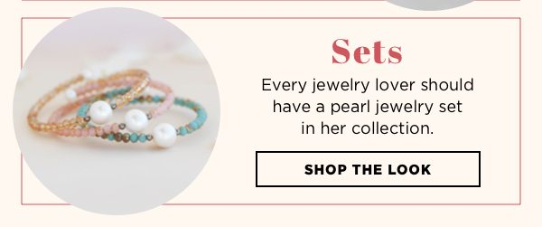 Shop pearl jewelry sets