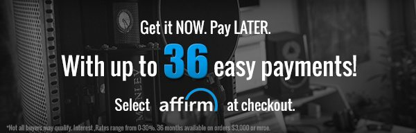 Pay Up to 36 Easy Payments with Affirm