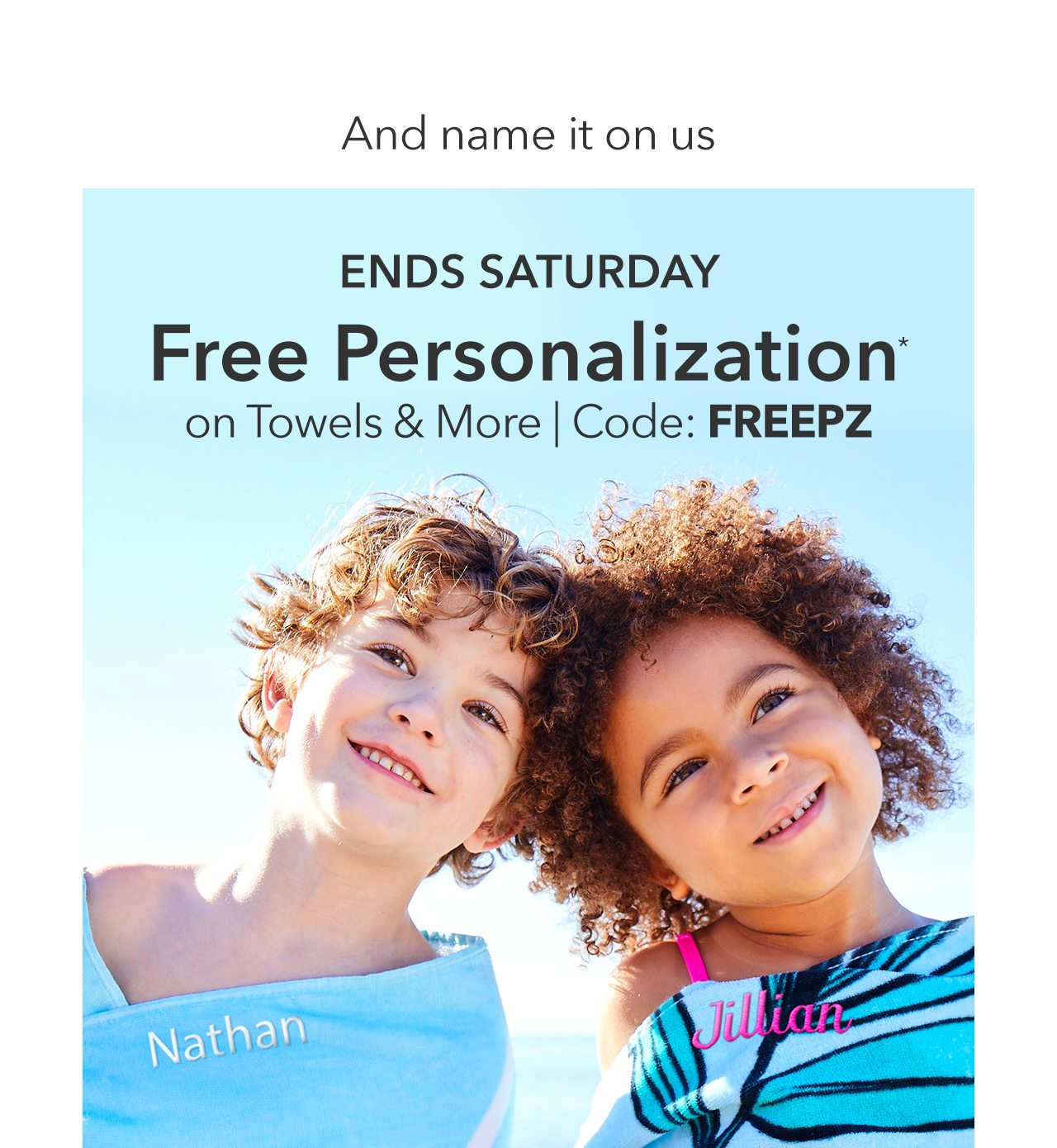 Free Personalization | Shop Now