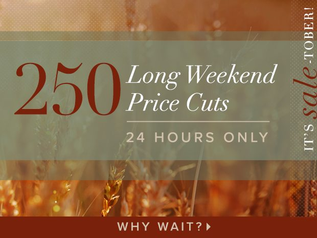 250 Price Cuts (!!!!) For 24 Hours (!!!!)