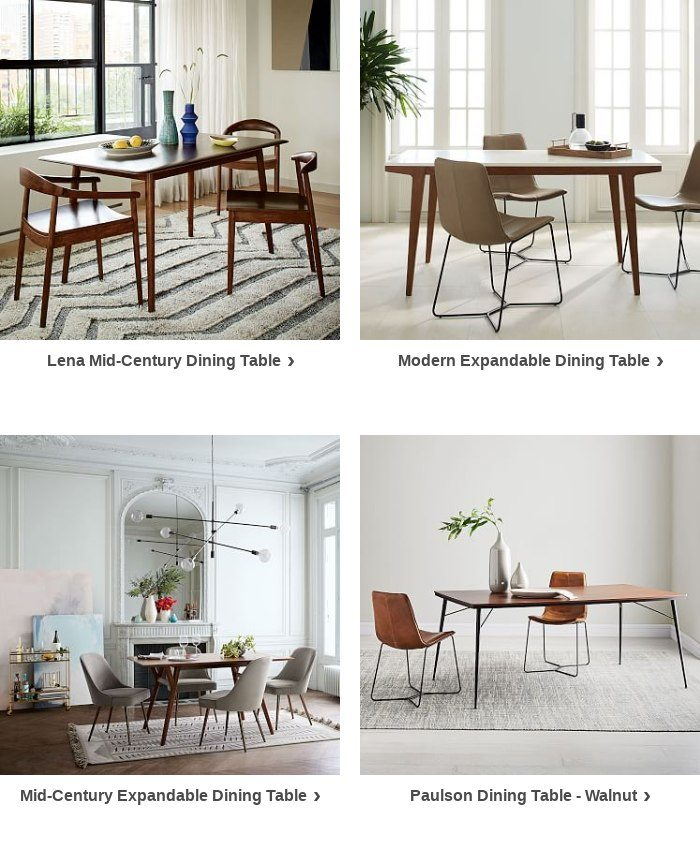 It S Decision Time Our Mid Century Expandable Dining Table 60 80 Pebble Has Your Name On It West Elm Email Archive