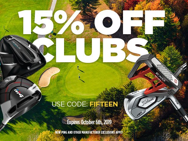 15% Off Clubs