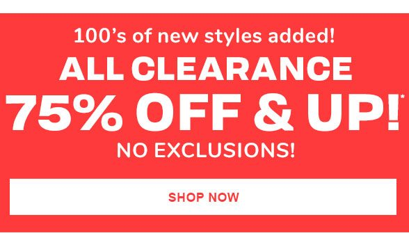 75% Off & Up All Clearance
