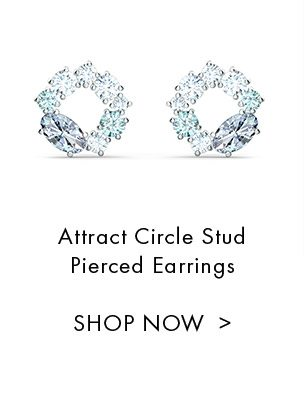 Attract Circle Stud Pierced Earrings