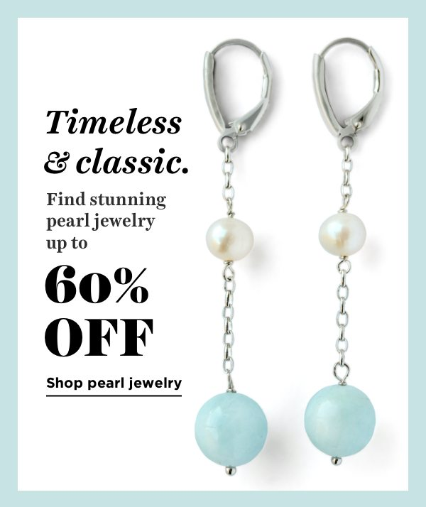 Shop all pearl jewelry up to 60% off