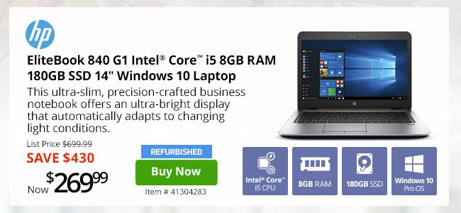 End of Month Sale! Core i5 8GB RAM HP EliteBook Only $269