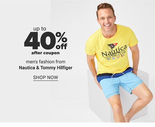 Up to 40% off after coupon men's designer fashion from Nautica & Tommy Hilfiger. Shop Now