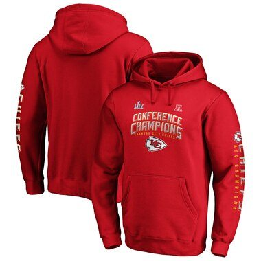 NFL Pro Line by Fanatics Branded Kansas City Chiefs Red 2019 AFC Champions End Around 2-Hit Pullover Hoodie
