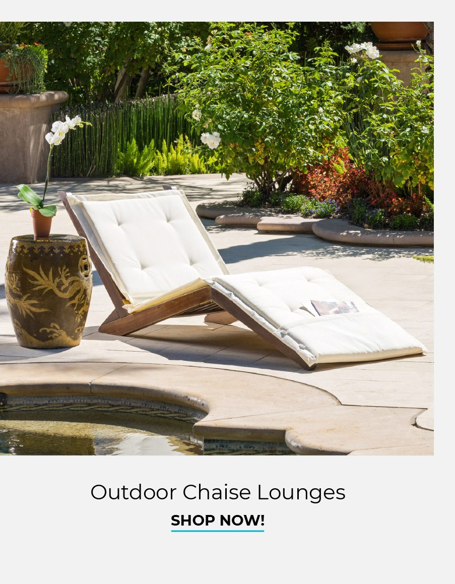 Outdoor Chaise Lounges | Shop Now!
