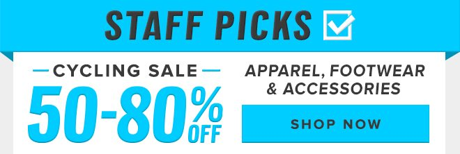 Staff Picks: 50-80% Off Cycling - Shop Now