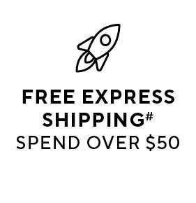 Free express shipping when you spend over $50