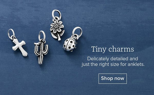 Tiny charms - Delicately detailed and just the right size for anklets. Shop now