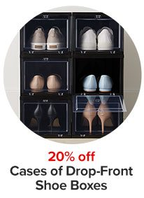 20% off cases of Drop-Fronts