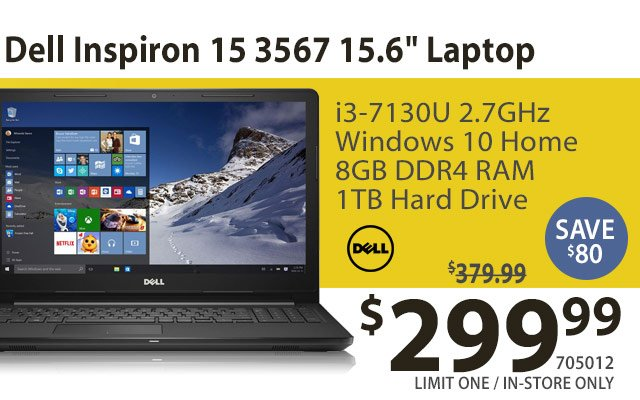 Dell Inspiron 15 3567 156 Inch Laptop