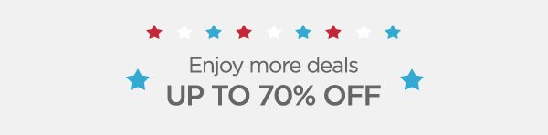Shop clearance items with up to 70% off