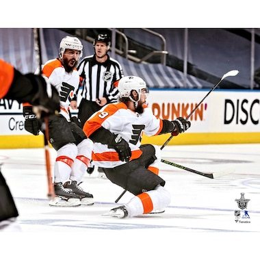 Ivan Provorov Philadelphia Flyers Fanatics Authentic Unsigned 2020 Stanley Cup Playoffs Game 6 vs. New York Islanders Overtime Game-Winning Goal Celebration Photograph