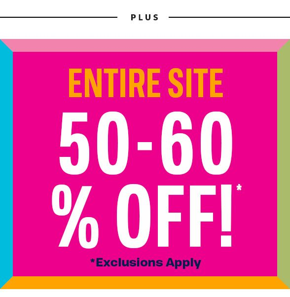 50-60% Off Entire Site