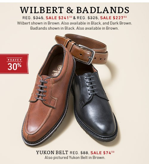 Save 30% on Badlands and Wilbert