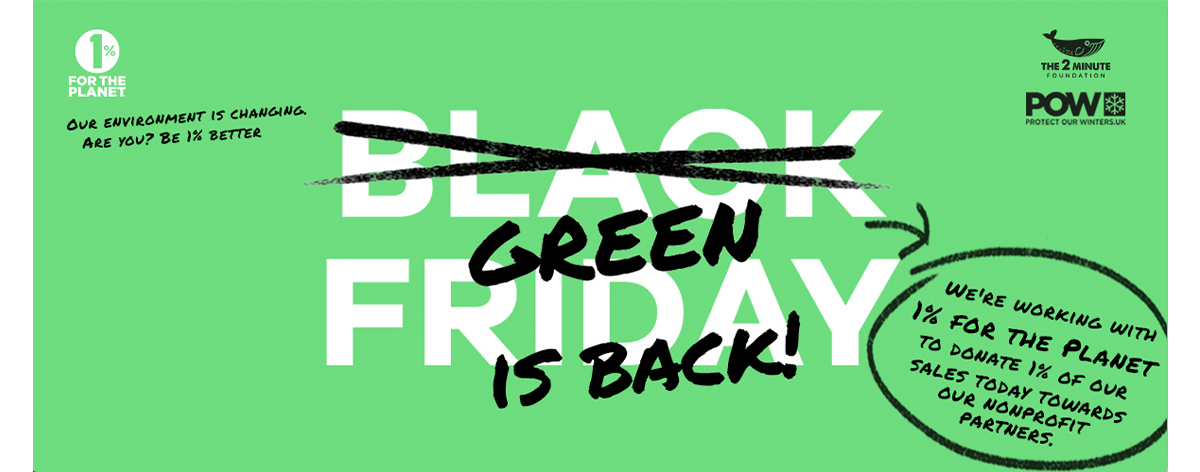 Green is the new black | Find out more on Green Friday