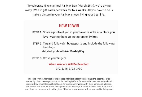 Find out how to win a $250 gift card for Nike Air Max Day