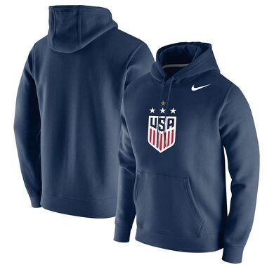 USWNT Nike 2019 FIFA Women's World Cup Champions 4-Star Club Pullover Hoodie – Navy