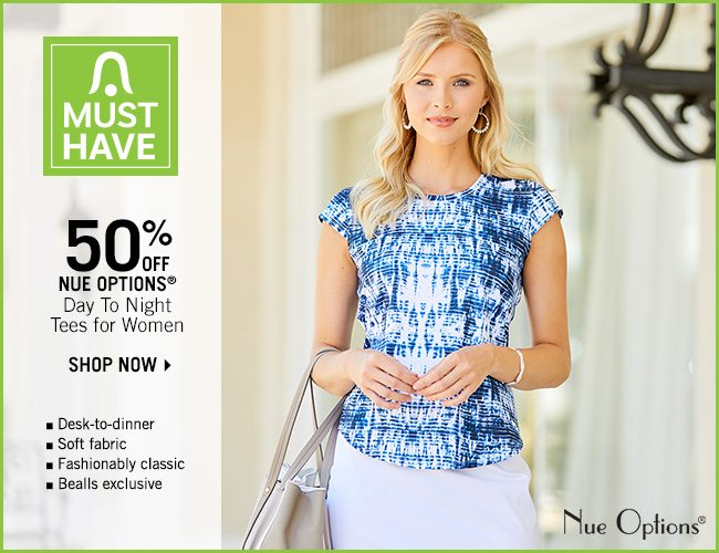 Shop 50% Off Nue Options Day to Night Tees for Women