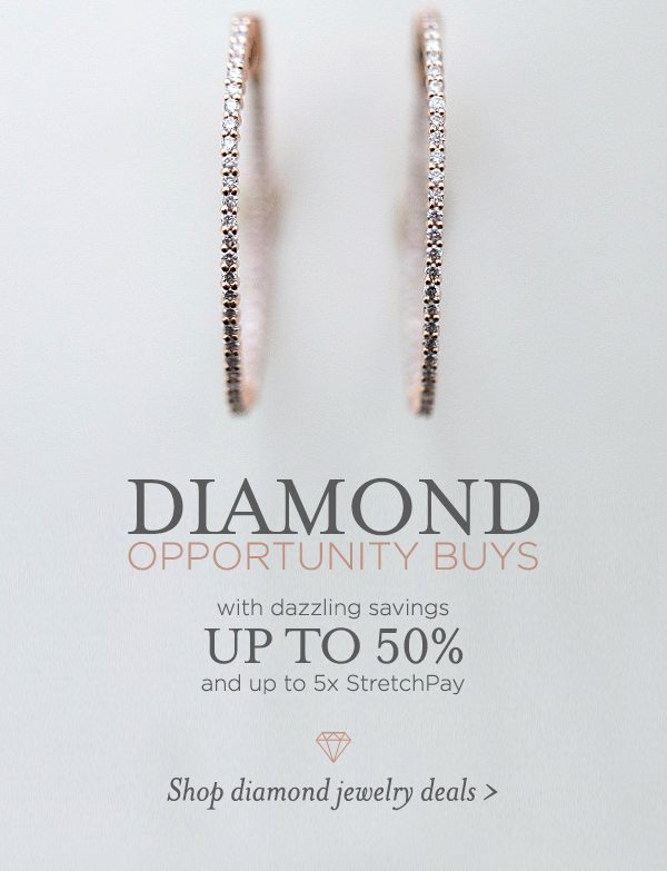 Shop Diamond Opportunity Buys with dazzling savings up to 50%
