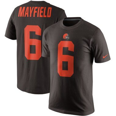 Baker Mayfield Cleveland Browns Nike Color Rush 2.0 Name & Number T-Shirt – Brown