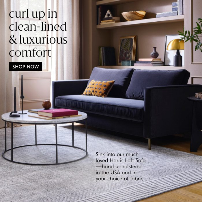 curl up in clean-lined & luxurious comfort
