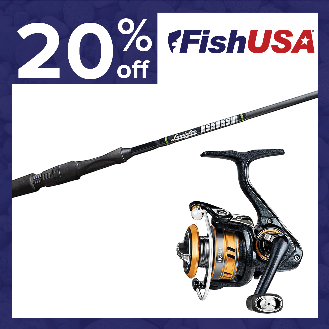 20% off Rods & Reels