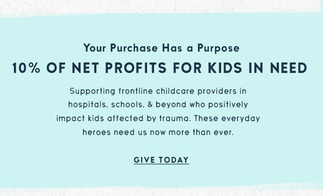 Life is Good donates 10% of its net profits to help kids in need
