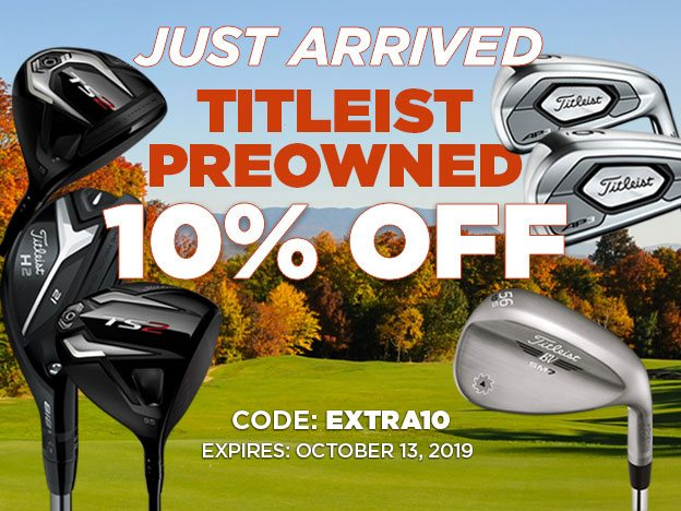 10% Off Just Arrived Titelist Preowned
