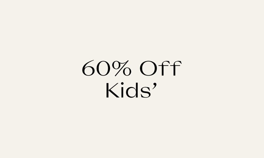 60% Off Kids' Recently Reduced