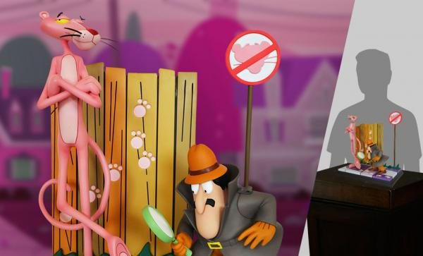 Pink Panther and the Inspector Statue by Hollywood Collectibles Group