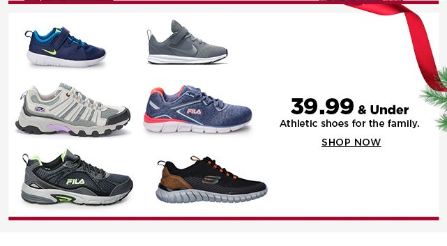 $39.99 and under athletic shoes for the family. shop now.