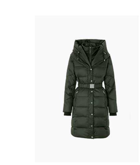 LAUREL BELTED SHAWL LONG PADDED COAT